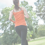 Woman exercising outdoors. Create an Exercise Routine to Lower Stress - Whole Family Living