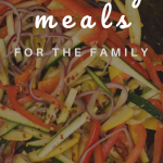 healthy family meal being cooked in a skillet
