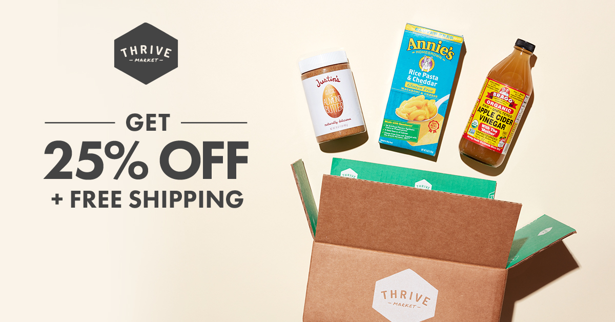 Save on organic groceries at Thrive Market.