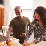 Family unpacking delivered groceries. Buy Healthy Groceries Online and Save Tons of Time and Money - Whole Family Living