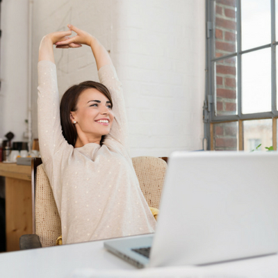 Best Apps to Help You Move More at Work . Woman sitting