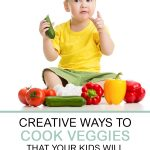Creative Ways to Cook Veggies that Your Kids Will Actually Eat. Toddler eating colorful vegetables.