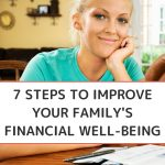 Improve Your Family's Financial Well-being - Whole Family Living. Woman sitting at table reviewing and paying bills.