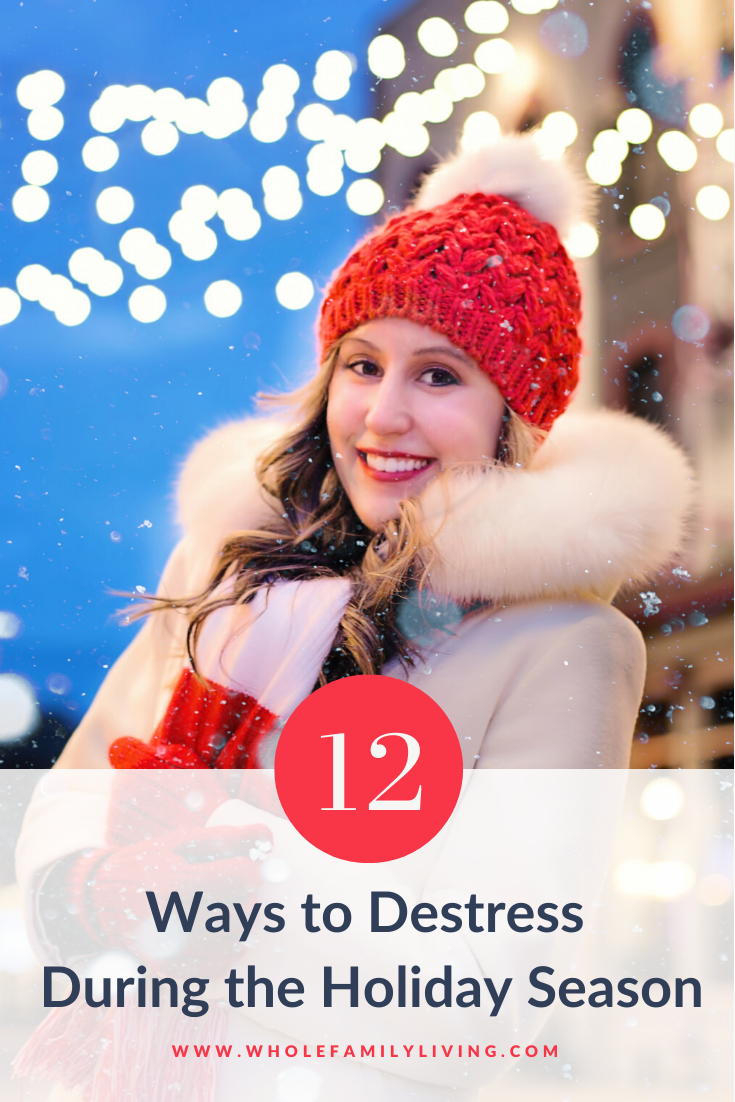 Does holiday stress wear you out? Here are 12 effective ways to destress during the holidays. Use these tips to help you manage stress all season long.
