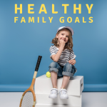 Young girl posing with tennis racquet and tennis balls. Setting Healthy Family Goals - Whole Family Living