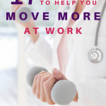 Woman holding a dumbbell. Best Apps to Help You Move More at Work - Whole Family Living