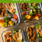 Healthy food in meal prep containers. How to Start Meal Prepping - The Easy Beginner's Guide - Whole Family Living