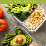Healthy food portioned into meal prep containers. How to Start Meal Prepping - The Easy Beginner's Guide - Whole Family Living