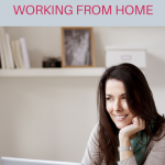Woman working from home at office desk. Stay Healthy While Working From Home - Whole Family Living