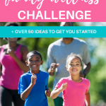 family doing outdoor activities, walking for a family wellness challenge