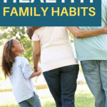 Happy, smiling child walking with grandparents outside . Healthy Family Habits to Start Practicing Now - Whole Family Living