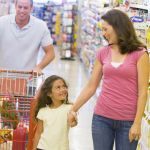 Family shopping for healthy groceries. Healthy Family Habits to Start Practicing Now - Whole Family Living