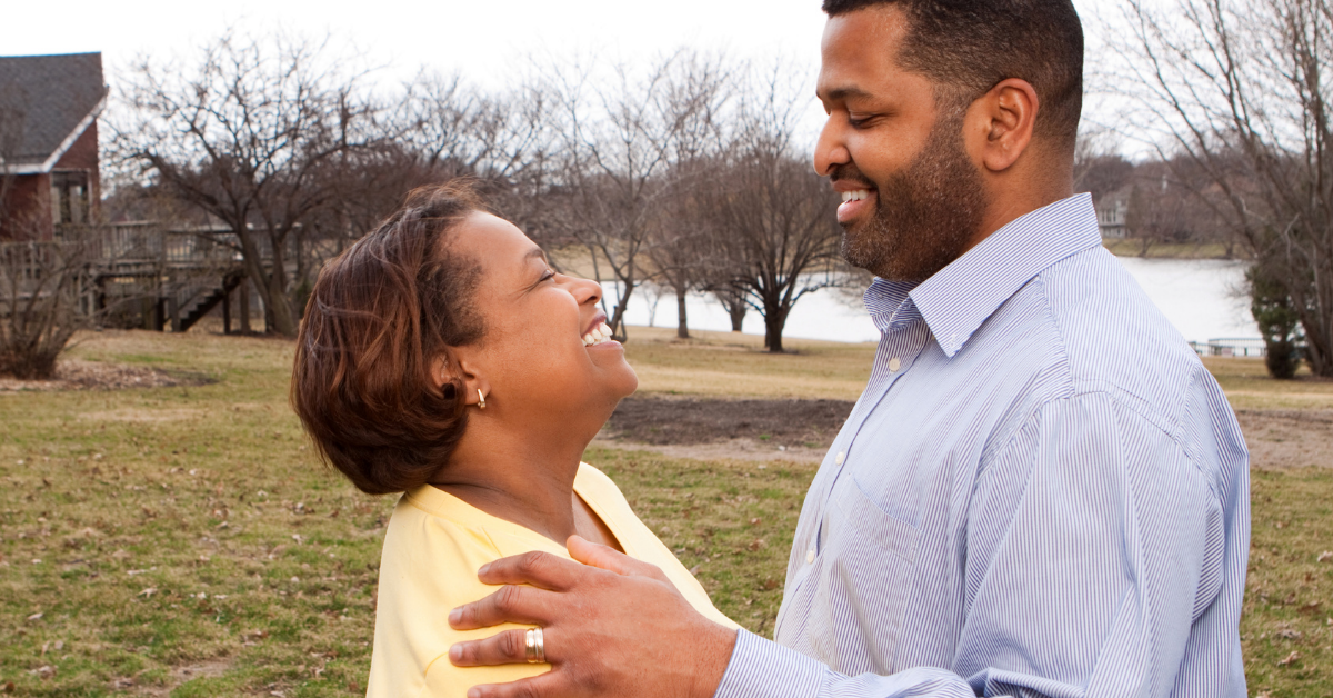 Married couple looking at each other. Healthy Family Habits for Relationships - Whole Family Living