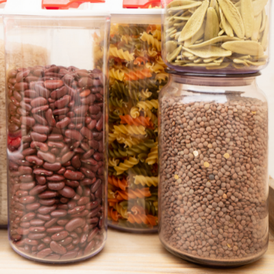 Dry pantry items in storage containers. How to Stock a Healthy Pantry - Whole Family Living